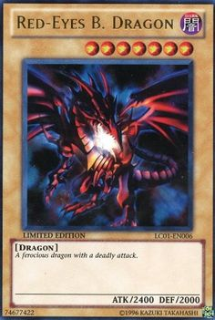 BESTSELLER! Yu-Gi-Oh! - Red-Eyes B. Dragon (LC01-EN006) - Legendary Collection - Limited Edition - Ultra Rare $0.78