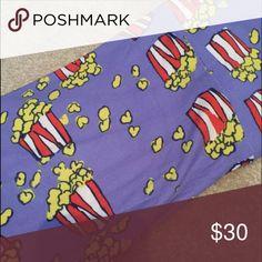 tc popcorn leggings! Super htf print. Extra soft! Popcorn print. Blueish purple color LuLaRoe Pants Leggings