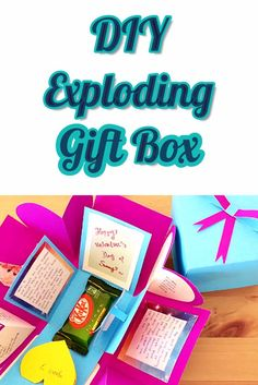 This surprise diy exploding gift box is an easy paper craft that anybody can do. Watch this tutorial and learn how to make one today.
