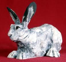 paper mache rabbit