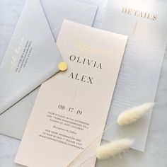 Gold Foiled Translucent Vellum Card Wedding Invitation with Foil Wedding Invitations, Elegant Invitations, Invites, Wedding Stationary, Wedding Cards, Wedding Events, Weddings, Addressing Envelopes, Grey And Gold