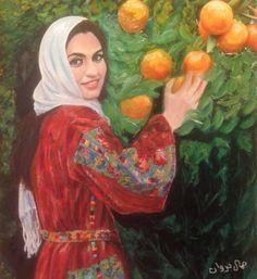 Palestine History, Palestine Art, Arabian Art, Islamic Art Calligraphy, Woman Painting, Art Fair, Lovers Art, Female Art, Creative Art