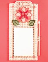 Plastic Canvas Note Holder