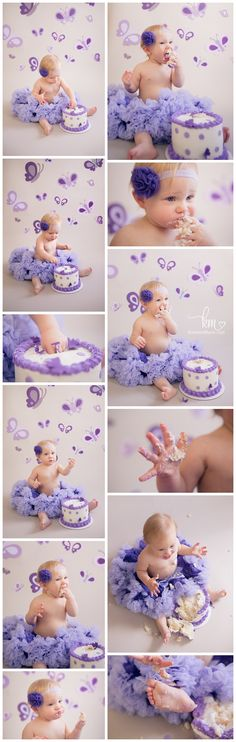 Purple Butterfly Cake Smash – First Birthday