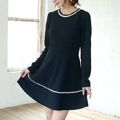 Buy 'Envy Look – Scoop-Neck A-Line Dress' with Free International Shipping at YesStyle.com. Browse and shop for thousands of Asian fashion items from South Korea and more!