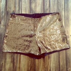 Gold Sequin Shorts Love Culture Gold Sequin Shorts. Will fit S-M. Love Culture Shorts