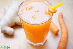 Poate fi considerat un mic elixir de fiecare zi, care ne poate ajuta să ne îmbunătățim imunitatea, vederea, funcțiile ficatului și plămânilor Happy Drink, Raw Vegan Recipes, Nutribullet, Fresh, Glass Of Milk, Food And Drink, Drinks, Healthy, Desserts