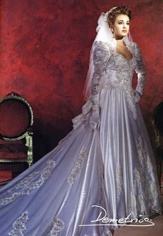 Dream wedding dresses with sleeves neckline 1980s Wedding Dress, Dream Wedding Dresses, Bridal Dresses, Wedding Gowns, Vintage Bridal, Beautiful Gowns, Bridal Style, Vintage Dresses, Marie