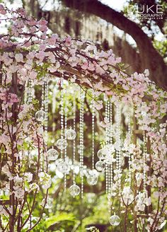 10 Wedding Bling Ideas: A crystal adorned arbor or vase can seamlessly integrate sparkle into your floral décor.