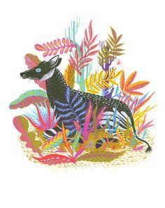 Llew Mejia Illustration - okapi - screenprint? color!