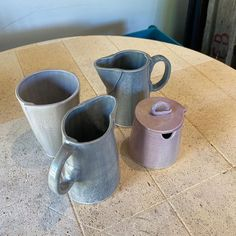 """Lorraine Clifton Ceramics on Instagram: """"And here are the other pictures!! I will get the hang of this soon 🤪"""" Ceramic Pitcher, Lorraine, Sugar Bowl, Bowl Set, Ceramics, Pictures, Instagram, Ceramica, Photos"""