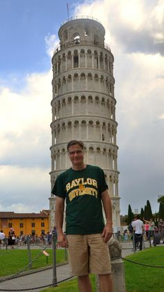 """In Pisa, Italy, I hear, 'Hey mister, nice shirt.' It was an entering #Baylor freshman from San Antonio!"" (via BLMTTT on Twitter)"