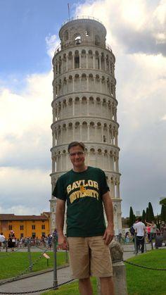 """In Pisa, Italy, I hear, 'Hey mister, nice shirt.' It was an entering #Baylor freshman from San Antonio!"" (via BLMTTT on Twitter)"