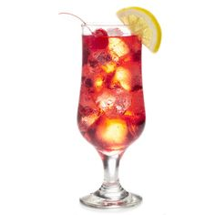 Shirley+Temple  .25 oz Grenadine Ginger ale, 7UP or Sprite Garnish: Maraschino cherry and lemon wedge Glass: Hurricane or Collins STIR. if want alcoholic DIrty shirley temple. add ounce and half of rum