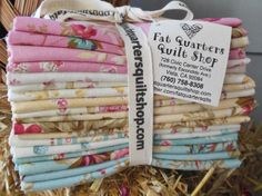 The fat quarter bundles of the NEW fabric collection 'Rose Hill Lane' designed by Robyn Pandolph for RJR Fabrics are ready :) 18 fat quarters... $54.00 per beautiful bundle...