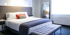 JETSETTER Deluxe Rooms are 280 square feet, with flatscreen TVs and modern bathrooms.