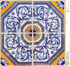 Azulejos Portugueses Tradicionais Fotografia de Stock - Imagem ...