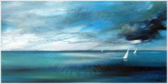 ANTJE HETTNER* Bild ORIGINAL Kunst GEMÄLDE Leinwand MALEREI XL abstrakt NEU Meer