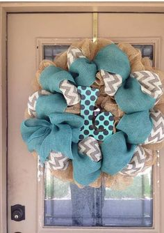 I will custom color burlap Its guaranteed to brighten up your door. Measures 28 inches Come like us on Facebook https://www.facebook.com/pages/Signs-By-Debbie-Hess/534784239895224