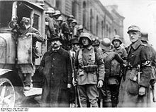 The Beer Hall Putsch (also known as the Munich Putsch) was a failed attempt at revolution that occurred between the evening of 8 November and the early afternoon of 9 November 1923, when Nazi Party leader Adolf Hitler, Generalquartiermeister Erich Ludendorff, and other heads of the Kampfbund unsuccessfully tried to seize power in Munich, Bavaria, Germany.