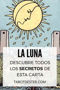 La Luna es una de las cartas de Tarot más desconfiadas. Es el XIV Arcano Mayor. Descubre todos los secretos y significados pulsando la imagen. Tarot Significado, Tarot Learning, Origami, Bullet Journal, Peace, Osho, Altar, Tarot Reading, Marseille