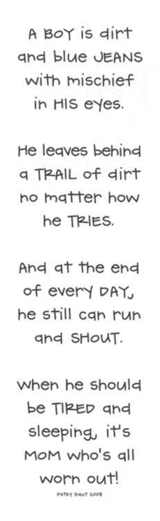 A boy is...