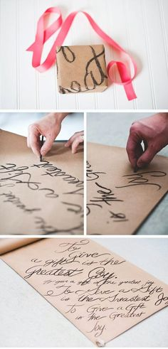 collection of ideas for Christmas gift wrapping
