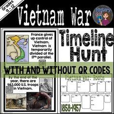 Vietnam War Map Activity  Map activities Vietnam War and Activities