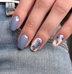 Cool grey nail design for summer 2018 #summernaildesigns