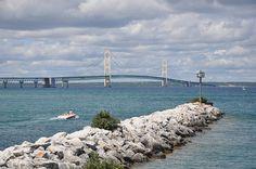 The Mackinac Bridge, MI, USA