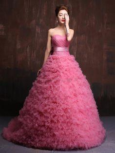 Doresuwe.com SUPPLIES 着心地最高の甘美綺麗目ロングドレス イブニングドレス 披露宴ドレス (2)