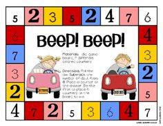 Free!!! Beep! beep! Fun & colorful, dice game! Great reinforcer for therapy & math fun!