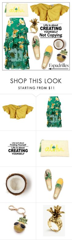 """Life is About Creating Yourself*Not Copying"" by pat912 ❤ liked on Polyvore featuring Rachel Comey, Alice + Olivia, Kayu, Tory Burch, New Directions, Ann Taylor, country, espadrilles, polyvoreeditorial and TropicalVacation"