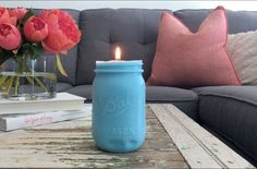 Mason jars are the perfect way to add a bit of panache to any room!