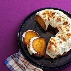 Gingersnap Pumpkin Cake Recipe -It just so happened that on the first day that really felt like fall, we were getting together with friends. I had to make this pumpkin cake. —Koni Brewer, Fort Worth, Texas