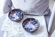 Nicecream· Πως θα κάνεις το παγωτό φρούτων ακόμη πιο υγιεινό Acai Bowl, Breakfast, Food, Acai Berry Bowl, Breakfast Cafe, Essen, Yemek, Meals