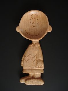 Charlie Brown  wood spoon. $115.00, via Etsy. *** For Sale but what a great idea... wonder what other 'patterns' I might come up with along these lines? ***