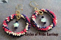 Circles of Pride EarringsPattern at Sova-Enterprises.com