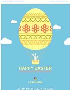 Happy Easter Email Template – Merry Christmas And Happy New Year 2018