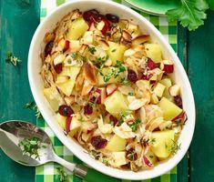 Deftiger Kartoffel-Sauerkraut-Auflauf