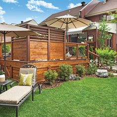 Backyard Gazebo, Deck With Pergola, Screened Porch Designs, Backyard Patio Designs, Outdoor Rooms, Outdoor Living, Design Cour, Deck Shade, Privacy Screen Outdoor