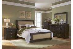 Sinclair Black Queen Panel Bed - Living Spaces