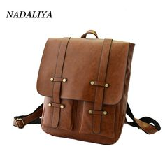 Click image to buyt  Fashion Vintage PU Leather kanken Backpacks For Women  Bookbag Cheap Women Backpack School College Female Girls bagpack Mochila --  Find ... e2a4a6a52670c