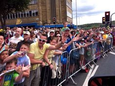 Tweeted by @BBCtdf - #Huddersfield's ready for you #tdf! Just the small matter of Cragg Vale to come first... Pic from @katebradbrook