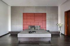 Usine Studio : Architects   Interior Designer   Project Consultants - Vadodara, Gujarat. India Terraced Patio Ideas, Simple Interior, Interior Design, Bed Back, Apartment Design, Architecture Design, Studio, House Design, Bed Designs