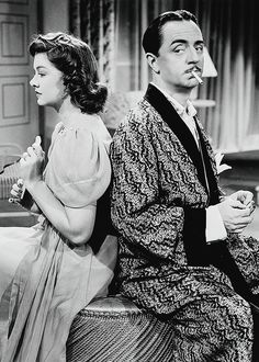 """William Powell and Myrna Loy in """"Love Crazy"""" (1941)"""