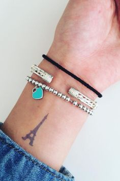 If you adore the city as much as we do, you'll love these Eiffel Tower tattoo ideas.