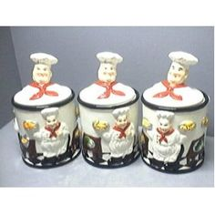 ITALIAN FAT CHEF CANNISTER  sc 1 st  Pinterest & Fat Chef Bistro Plate Set Wall Rack Italian Kitchen Bistro Bon ...