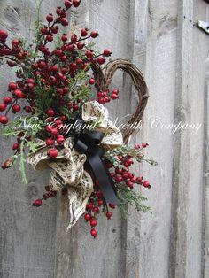 Valentine& Wreath Heart Wreath Designer by NewEnglandWreath Valentine Wreath, Valentine Crafts, Valentines, Dining Room Blue, Heart Frame, Heart Wreath, Grape Vines, Event Design, French Country
