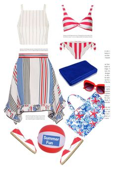 """""""Summer Fun'"""" by dianefantasy ❤ liked on Polyvore featuring MSGM, Topshop, Soludos, Lilly Pulitzer, HUGO, Solid & Striped, summerstyle, polyvorecommunity and polyvoreeditorial"""